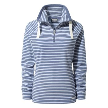 Craghoppers Rhonda Half-Zip Fleece China Blue Stripe