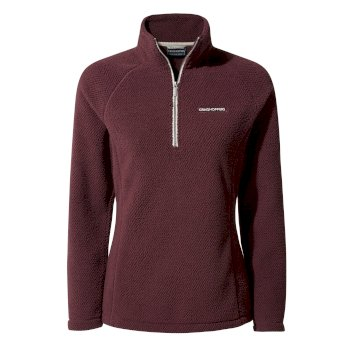 Craghoppers Moira Half-Zip Fleece Dark Rioja Red