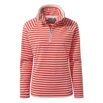 Craghoppers Natalia Half-Zip Fleece - Rio Red Stripe