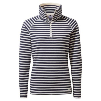 Craghoppers Natalia Half Zip - Blue Navy / Seasalt Stripe