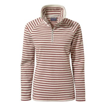 Craghoppers Natalia Half-Zip Fleece - Cassis Stripe