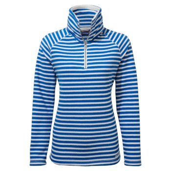 Craghoppers Natalia Half Zip - Persian Blue Stripe