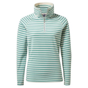 Craghoppers Natalia Half Zip - Peppermint Stripe