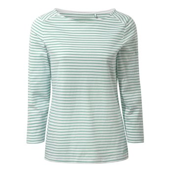 Craghoppers Blanca Long Sleeve Top - Sea Breeze Stripe