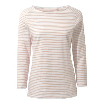 Craghoppers Blanca Long Sleeve Top - Corsage Pink Stripe