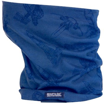 Regatta Thunderbirds Are Go Kids Stretch Multitube Scarf Oxford Blue