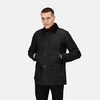 Banbury wasserabweisende Wachsjacke für Herren Schwarz