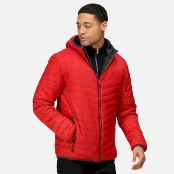 Acadia II Warmloft daunenweiche, isolierte Jacke mit Kapuze für Herren Rot