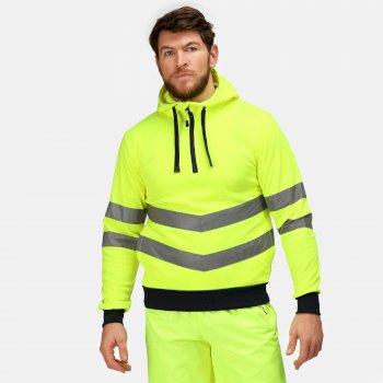 Hi Vis Pro Reflektierender Hoodie zum Drüberziehen für Herren Gelb