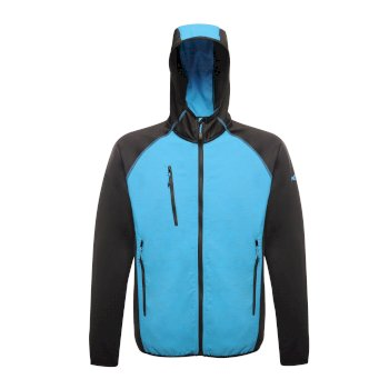Men's Lumen Reflective Stretch Softshell Methyl Blue Black