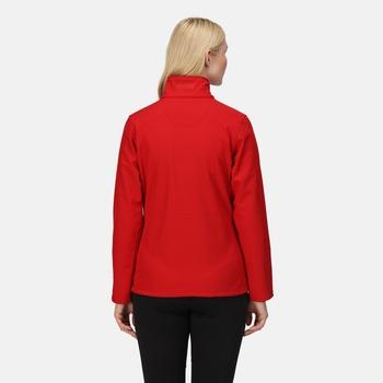 Octagon II bedruckbare Softshelljacke mit 3-lagiger Membran für Damen Rot