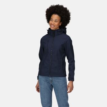 Venturer 3-lagige, bedruckbare Softshelljacke mit Kapuze für Damen Blau