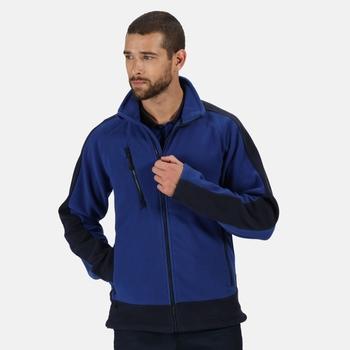 Contrast 300 robustes Fleece mit durchgehendem Reißverschluss Blau