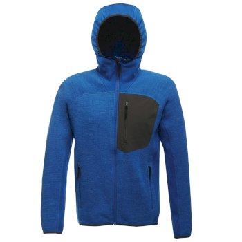 Coldspring - Herren Hybrid-Fleecejacke mit Kapuze - elastisch Blau