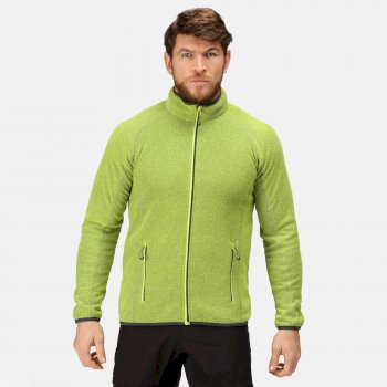 Dreamstate Fleece mit durchgehendem Reißverschluss und Mini-Wabenstruktur für Herren Lime Punch