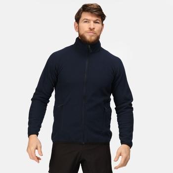 Dreamstate Fleece mit durchgehendem Reißverschluss und Mini-Wabenstruktur für Herren Blau
