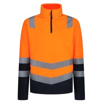 Hi-Vis Fleece mit halblangem Reißverschluss für Herren Orange