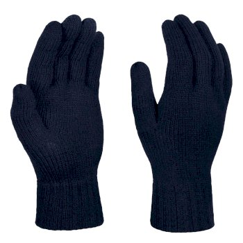 Gestrickte Thermohandschuhe für Herren Blau