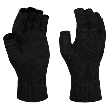Fingerlose Thermohandschuhe für Herren Schwarz