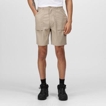 Action Shorts mit mehreren Taschen für Herren Sahne