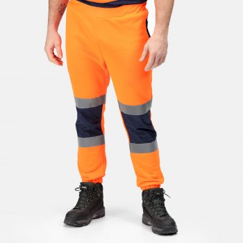 Hi-Vis Jogginghose für Herren Orange Navy