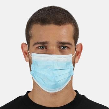 Einweg-Gesichtsmaske EN14683 Typ I 10er-Packs Blau