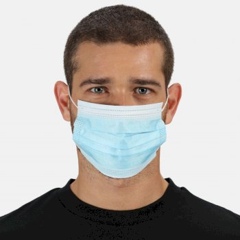 Disposable Medical EN14683 Type I Face Mask 50 Pack - Blue