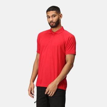 Coolweave feuchtigkeitsableitendes Poloshirt für Herren Rot
