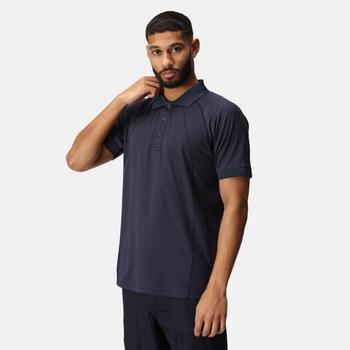 Coolweave feuchtigkeitsableitendes Poloshirt für Herren Blau