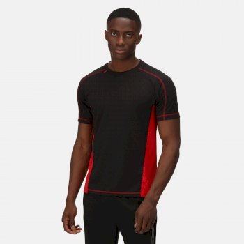 Men's Beijing Lightweight Cool and Dry T-Shirt Black Classic Red