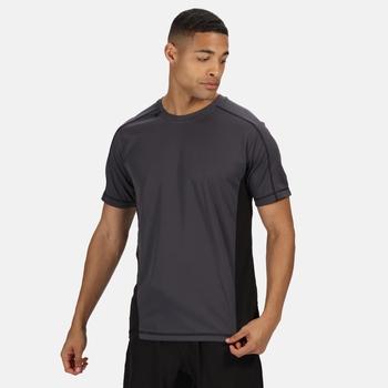 Men's Beijing Lightweight Cool and Dry T-Shirt Iron Black