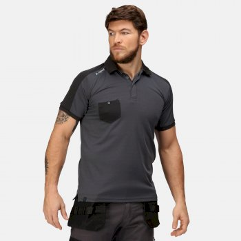 Offensive Feuchtigkeitsableitendes Poloshirt Grau