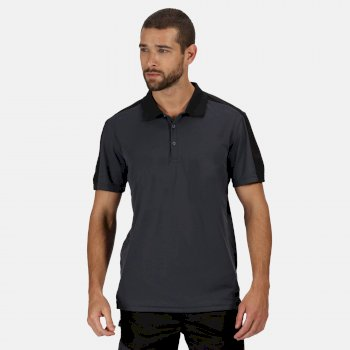 Contrast Coolweave schnell feuchtigkeitsableitendes Poloshirt für Herren Grau