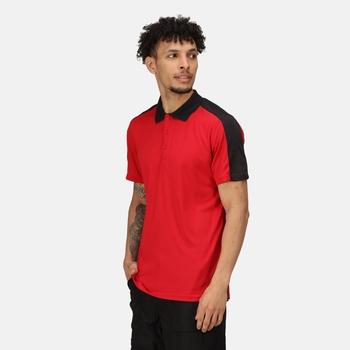 Contrast Coolweave schnell feuchtigkeitsableitendes Poloshirt für Herren Rot