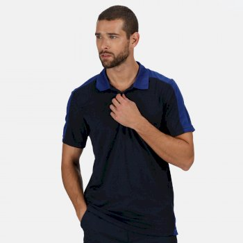 Contrast Coolweave schnell feuchtigkeitsableitendes Poloshirt für Herren Blau