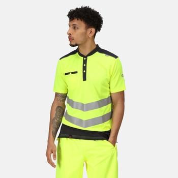 Tactical Hi Vis Reflektierendes Polo-Arbeitsshirt für Herren Gelb