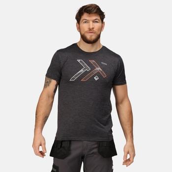 Dread T-Shirt mit Grafik-Print für Herren Grau
