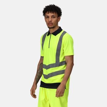 Hi Vis Pro Reflektierendes Polo-Arbeitsshirt für Herren Gelb