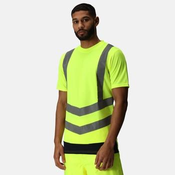 Hi-Vis T-Shirts für Herren Yellow Navy